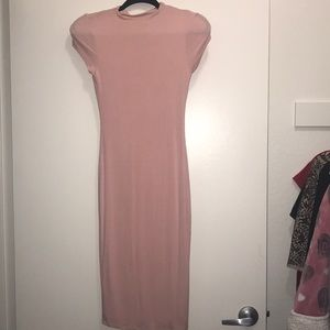 Pastel Pink Midi-Boutique Dress
